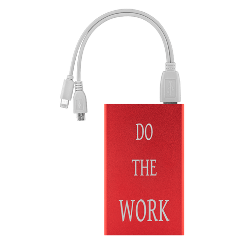 Image of Do The Work Power Bank Power Banks Red