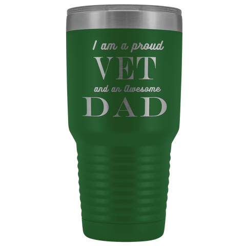 Image of Proud Vet, Awesome Dad Tumblers Green