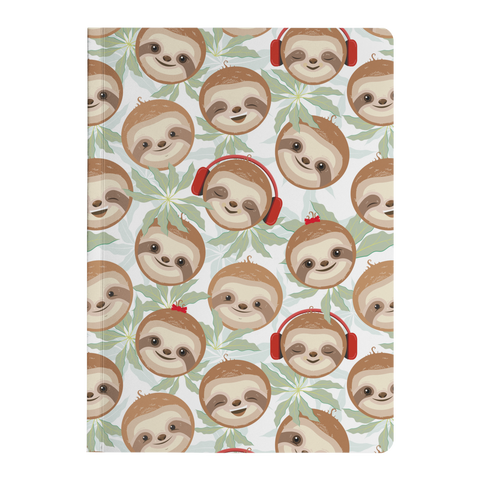 Image of Happy DJ Sloth Soft Cover Journal