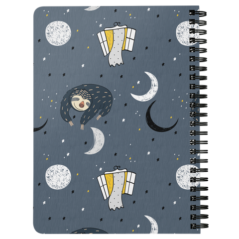 Image of Sleeping Space Sloth Journal | Spiral