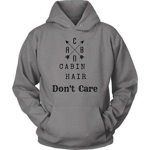 Image of CABN, Cabin Hair, Don't Care T-shirt Unisex Hoodie Grey S