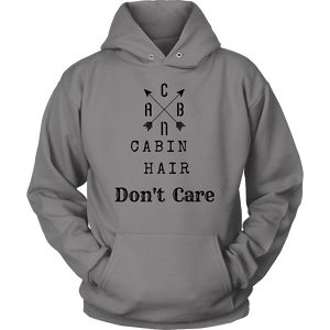 CABN, Cabin Hair, Don't Care T-shirt Unisex Hoodie Grey S