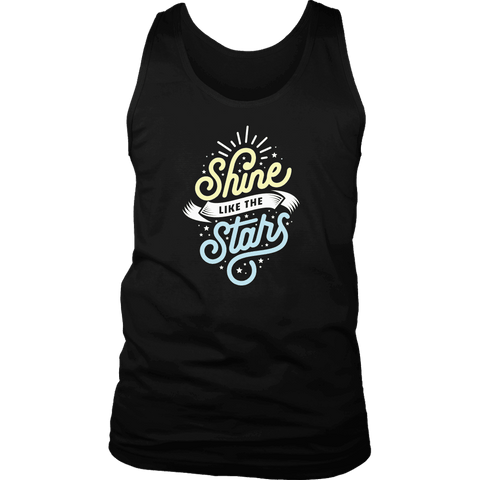 Shine Like The Stars T-shirt District Mens Tank Black S