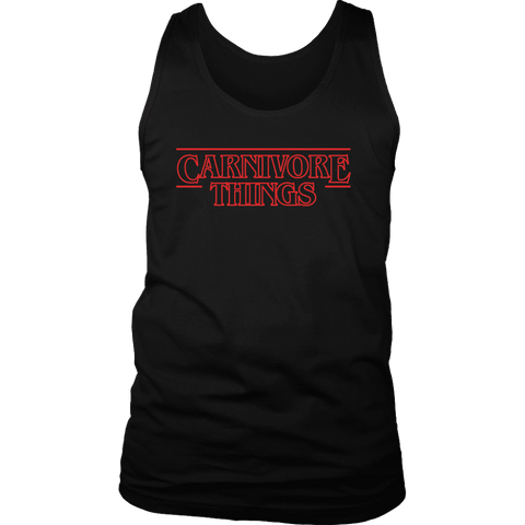 Image of Carnivore Things T-shirt District Mens Tank Black S