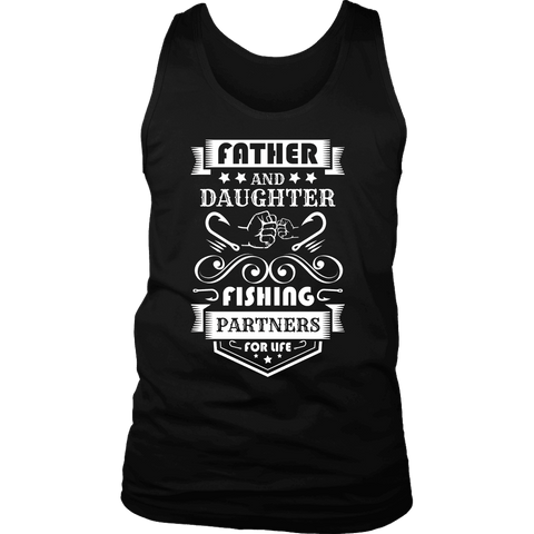 Image of Father and Daughter Fishing Partners T-shirt District Mens Tank Black S