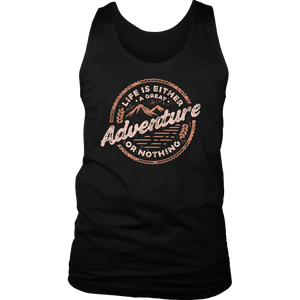 Life Is A Great Adventure T-shirt District Mens Tank Black S