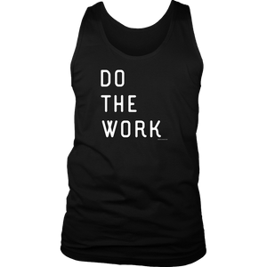 Do The Work | Mens | White Print T-shirt District Mens Tank Black S