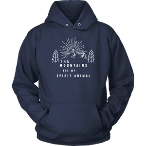Mountains Spirit T Shirt 1 T-shirt Unisex Hoodie Navy S