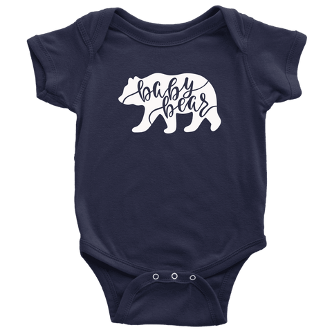 Baby Bear Shirts and Onesies T-shirt Baby Bodysuit Navy NB