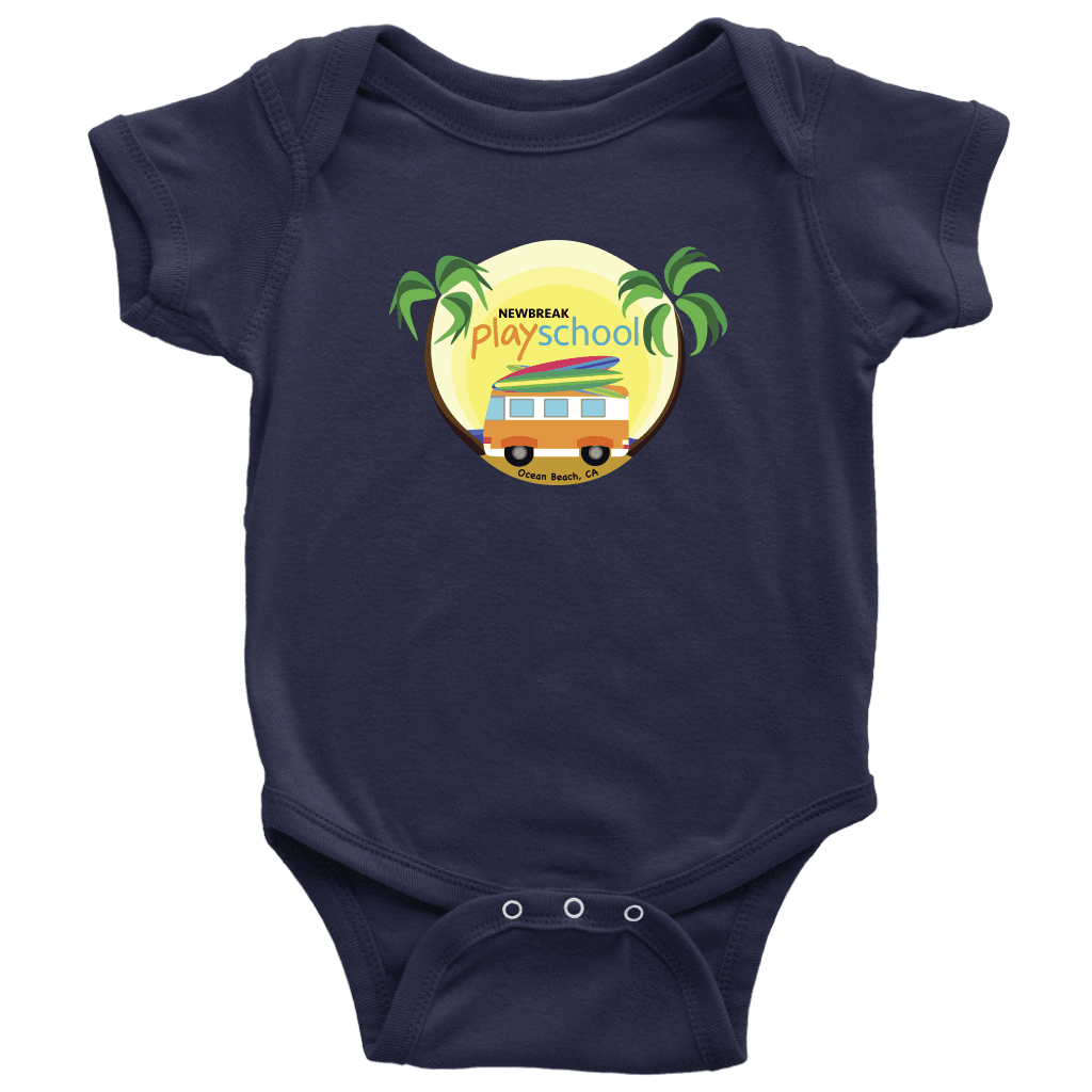 Newbreak Playschool Onesie T-shirt Baby Bodysuit Navy NB
