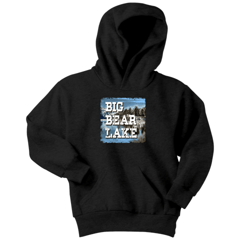 Image of Big Bear Lake V.1 Hoodies and Long Sleeve T-shirt Youth Hoodie Black XS