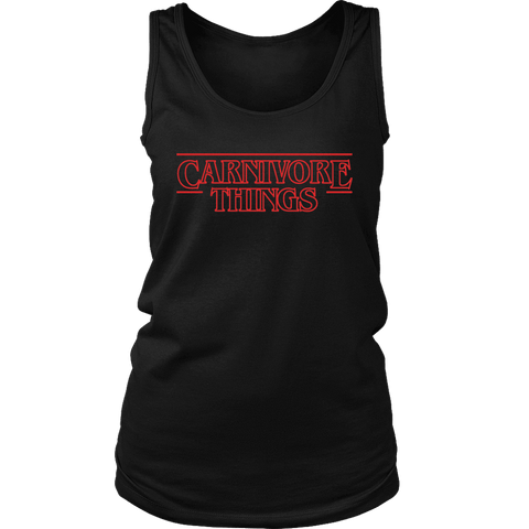 Image of Carnivore Things T-shirt District Womens Tank Black S