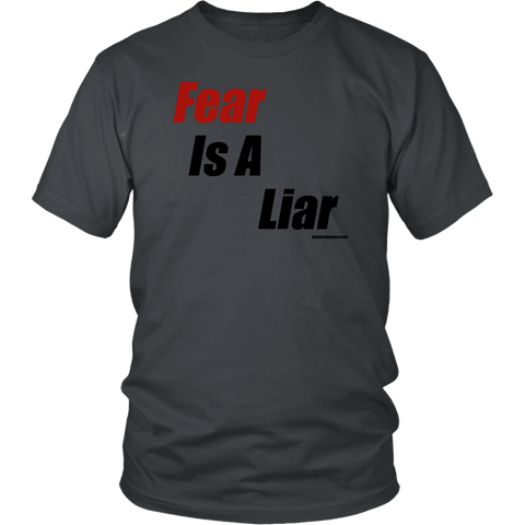 Image of Fear is a Liar, Bold T-shirt District Unisex Shirt Charcoal S