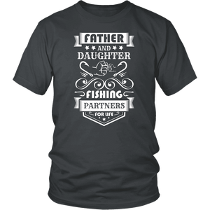Father and Daughter Fishing Partners T-shirt District Unisex Shirt Charcoal S
