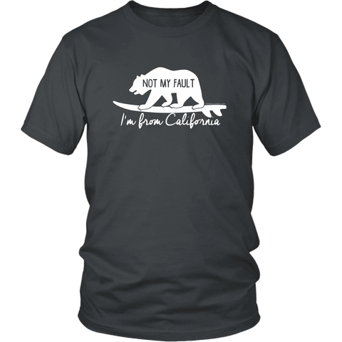 Image of From California T-shirt District Unisex Shirt Charcoal S