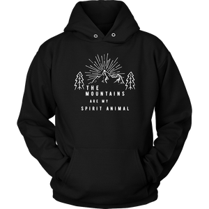 Mountains Spirit T Shirt 1 T-shirt Unisex Hoodie Black S