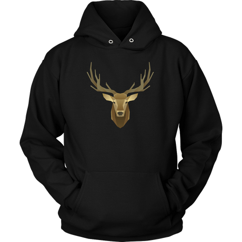 Image of Deer Portrait, Real T-shirt Unisex Hoodie Black S