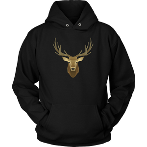 Deer Portrait, Real T-shirt Unisex Hoodie Black S
