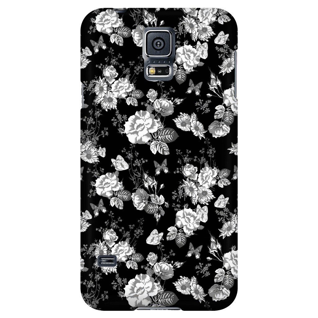 Butterflies and Flowers Phone Case Phone Cases Galaxy S5