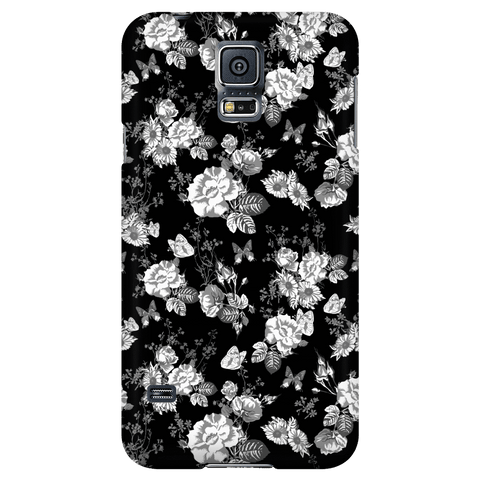 Image of Butterflies and Flowers Phone Case Phone Cases Galaxy S5