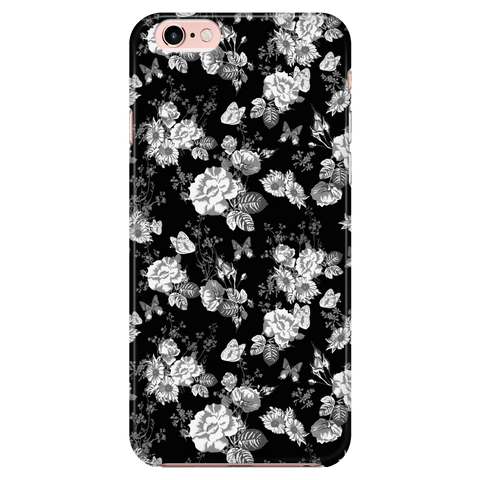 Image of Butterflies and Flowers Phone Case Phone Cases iPhone 7/7s/8