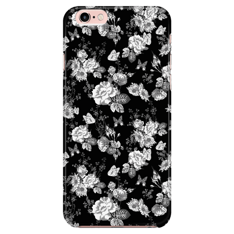 Image of Butterflies and Flowers Phone Case Phone Cases iPhone 6/6s