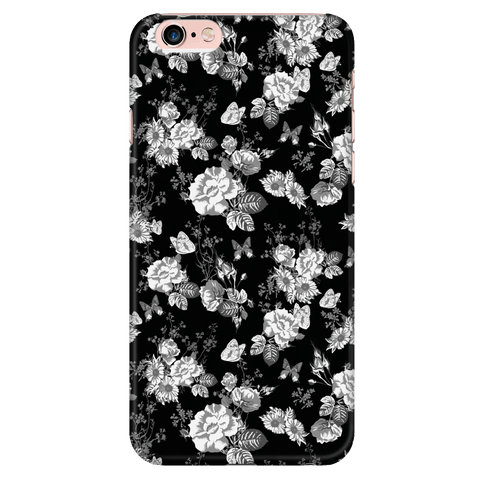 Image of Butterflies and Flowers Phone Case Phone Cases iPhone 6 Plus/6s Plus