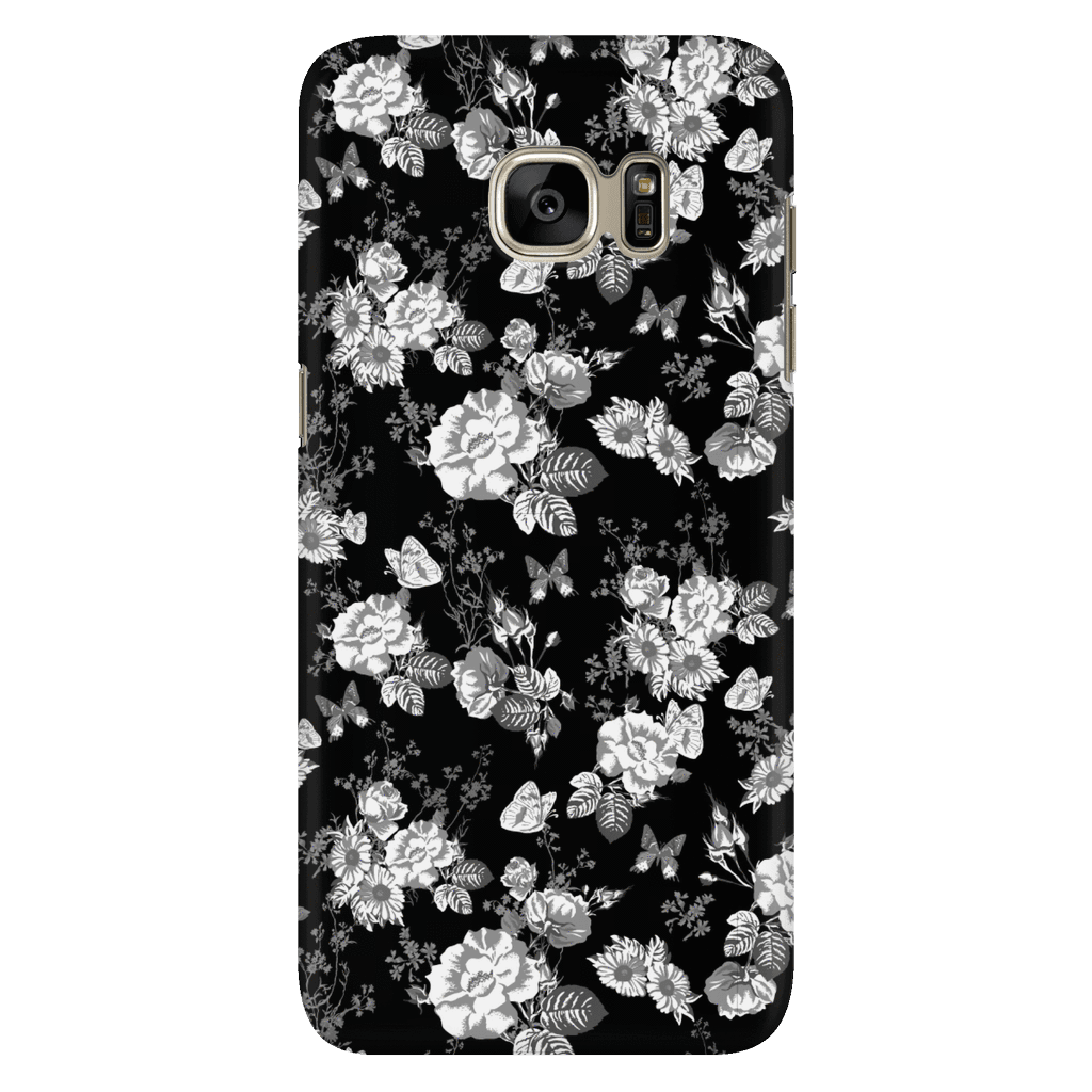 Butterflies and Flowers Phone Case Phone Cases Galaxy S7