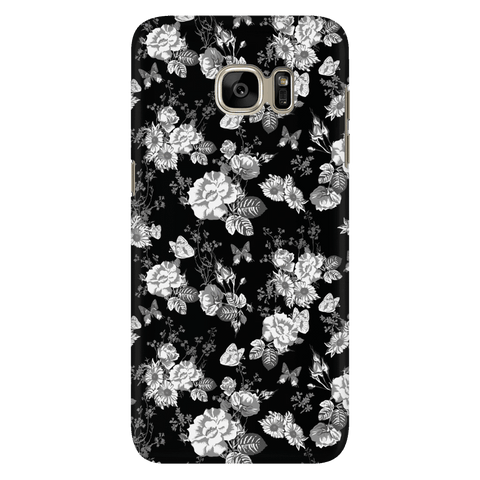 Image of Butterflies and Flowers Phone Case Phone Cases Galaxy S7