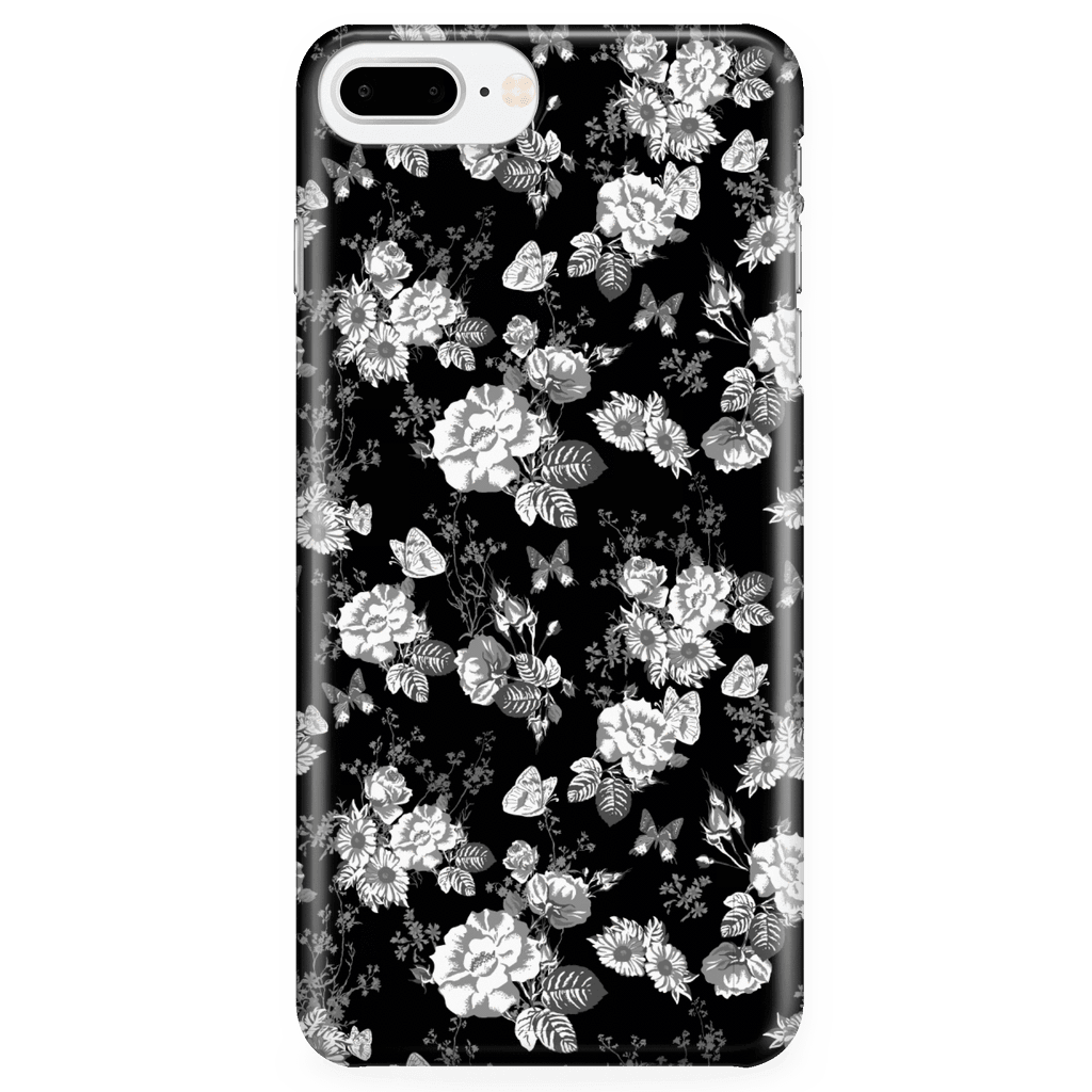 Butterflies and Flowers Phone Case Phone Cases iPhone 7 Plus/7s Plus/8 Plus