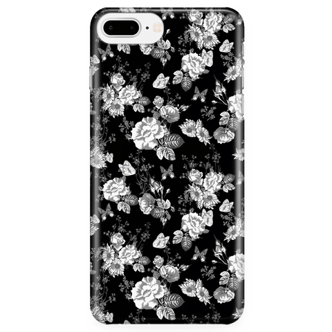 Image of Butterflies and Flowers Phone Case Phone Cases iPhone 7 Plus/7s Plus/8 Plus