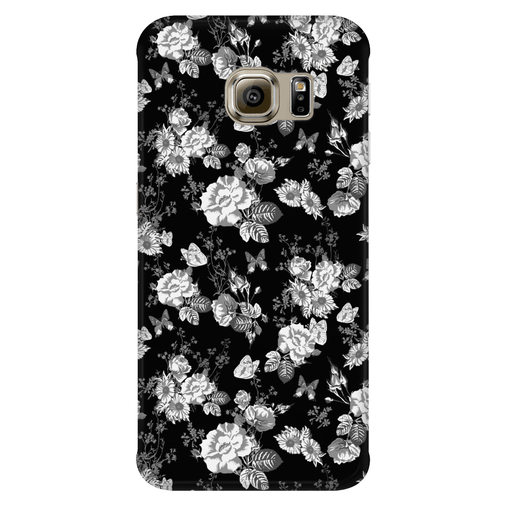 Butterflies and Flowers Phone Case Phone Cases Galaxy S6 Edge
