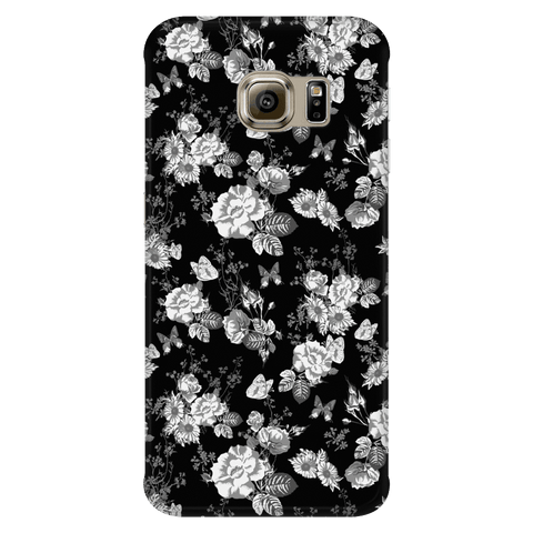 Image of Butterflies and Flowers Phone Case Phone Cases Galaxy S6 Edge