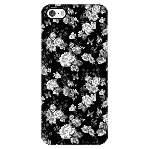 Image of Butterflies and Flowers Phone Case Phone Cases iPhone 5/5s