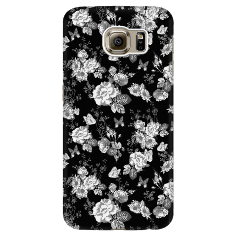 Image of Butterflies and Flowers Phone Case Phone Cases Galaxy S6