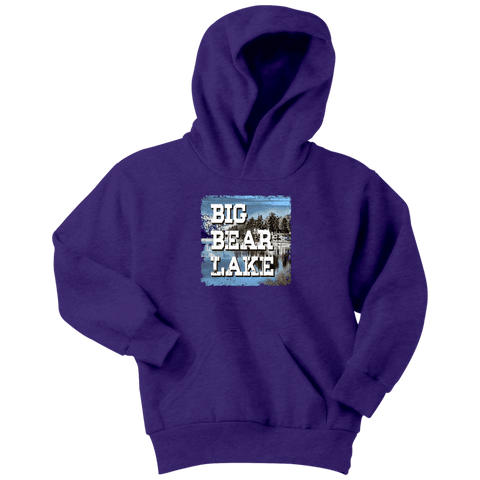 Image of Big Bear Lake V.1 Hoodies and Long Sleeve T-shirt Youth Hoodie Purple XS
