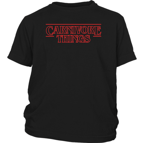Carnivore Things T-shirt District Youth Shirt Black XS