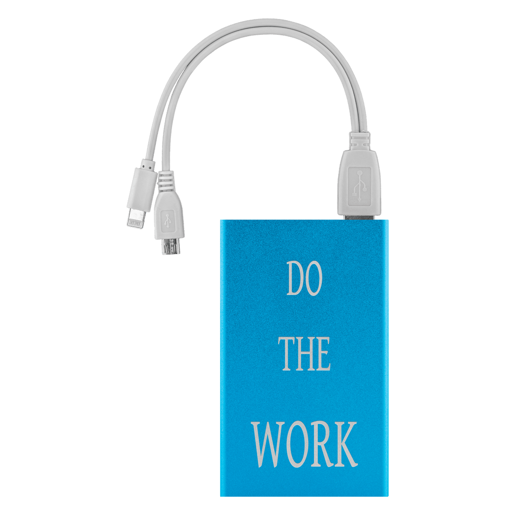 Do The Work Power Bank Power Banks Light Blue