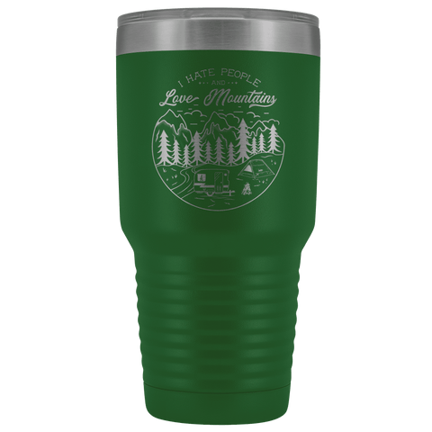 Image of Love the Mountains | 30oz Tumbler Tumblers Green