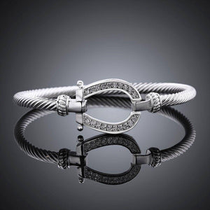925 Sterling Silver Horse Shoe Bangle Bracelets