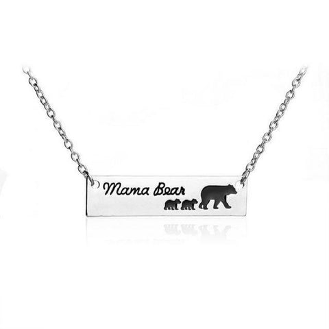"""Mama Bear"" Necklace Mother Bear and a group of Baby Bear 1 - 6 Necklace 2 Cubs"