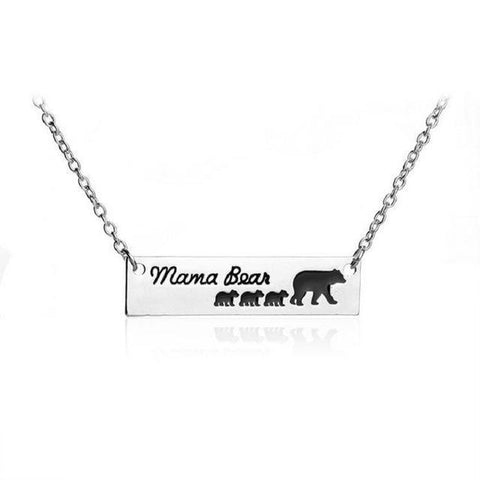 "Image of ""Mama Bear"" Necklace Mother Bear and a group of Baby Bear 1 - 6 Necklace 3 Cubs"