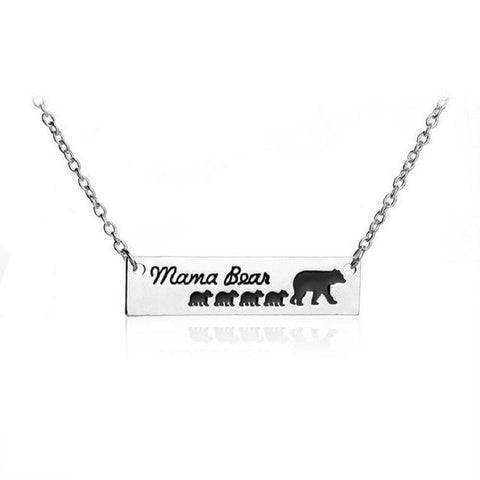 """Mama Bear"" Necklace Mother Bear and a group of Baby Bear 1 - 6 Necklace 4 Cubs"