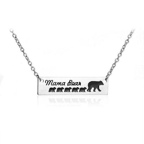 """Mama Bear"" Necklace Mother Bear and a group of Baby Bear 1 - 6 Necklace 5 Cubs"