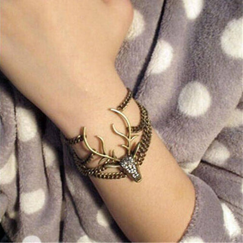 Image of Vintage Retro Deer Head Bracelet