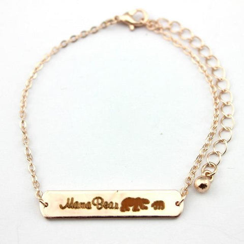 Mama Bear Bracelets Rose Gold 1 Bear 18cm