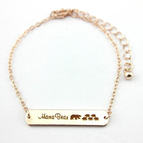 Mama Bear Bracelets Rose Gold 5 Bear 18cm