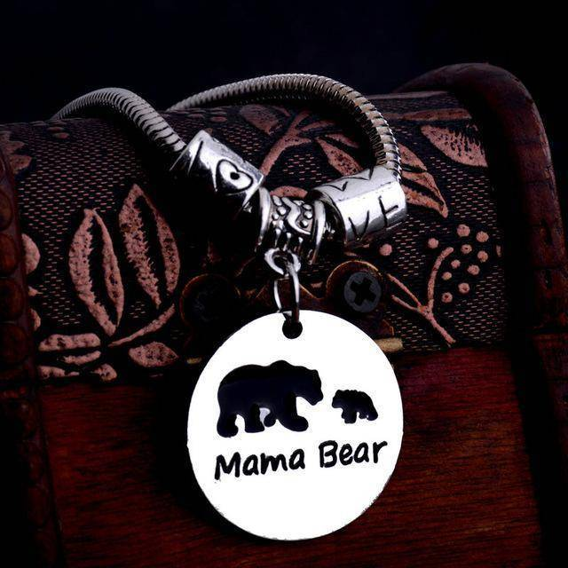 MAMA Bear Bracelet Two Bears