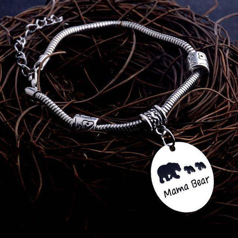 Image of MAMA Bear Bracelet Three Bears