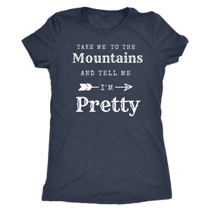 To The Mountains Womens Shirts T-shirt Next Level Womens Triblend Vintage Navy S